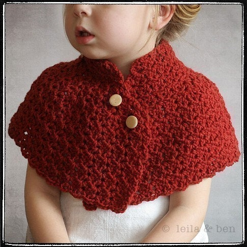 Capelet Crochet Pattern PDF