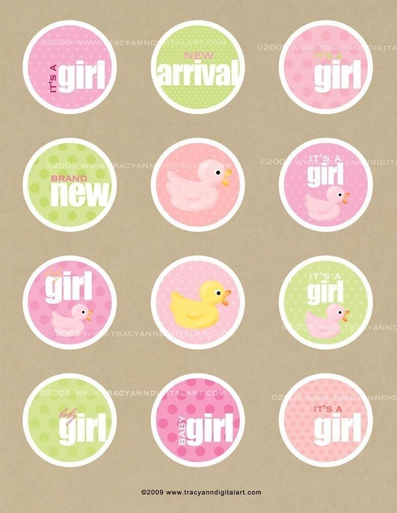 clip art baby girl. CLIP ART - Baby Girl circles
