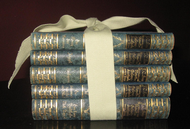 Gilded Vintage German Books