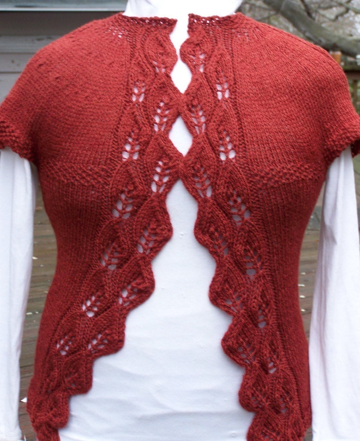 knitting pattern lace knit cardigan knit sweater by KnitChicGrace