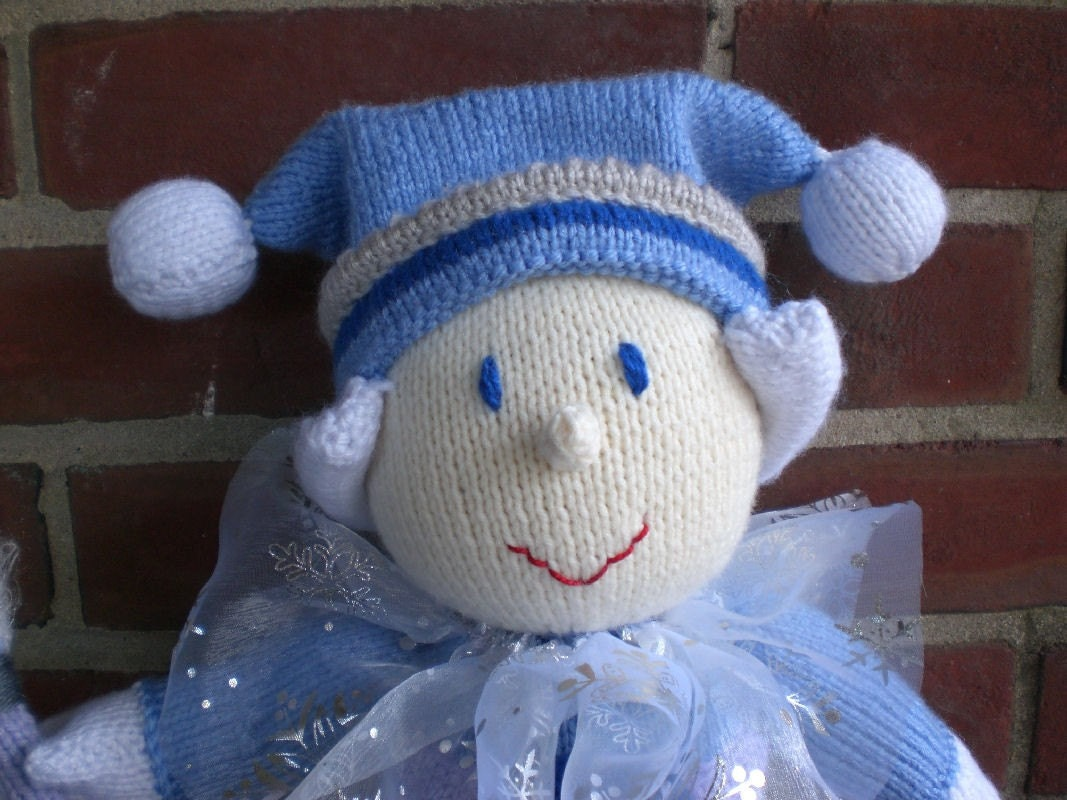 Jack Frost - knitted doll for charity