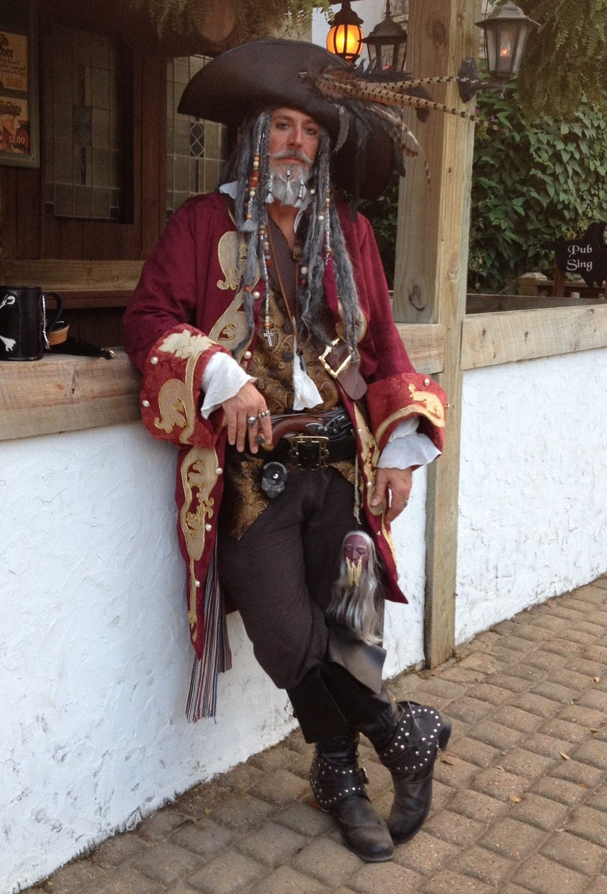 Jackets Coats amp Cloaks Pirate Costumes for Men  eBay