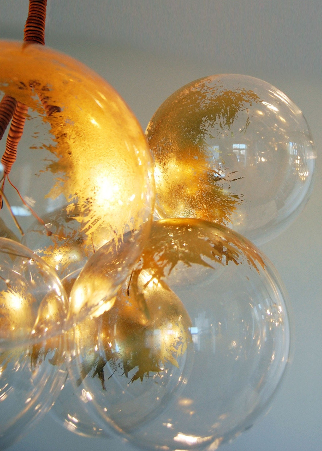 Gold Bubble Chandelier by Jean Pelle (Large Size)