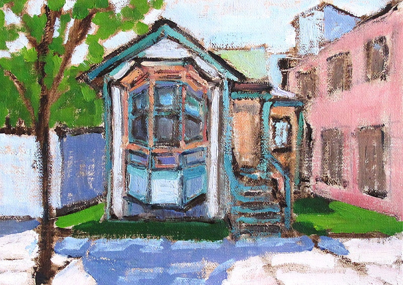 Painting of San Diego Victorian House
