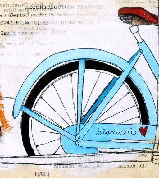 I Heart My Bike...8x10 Print