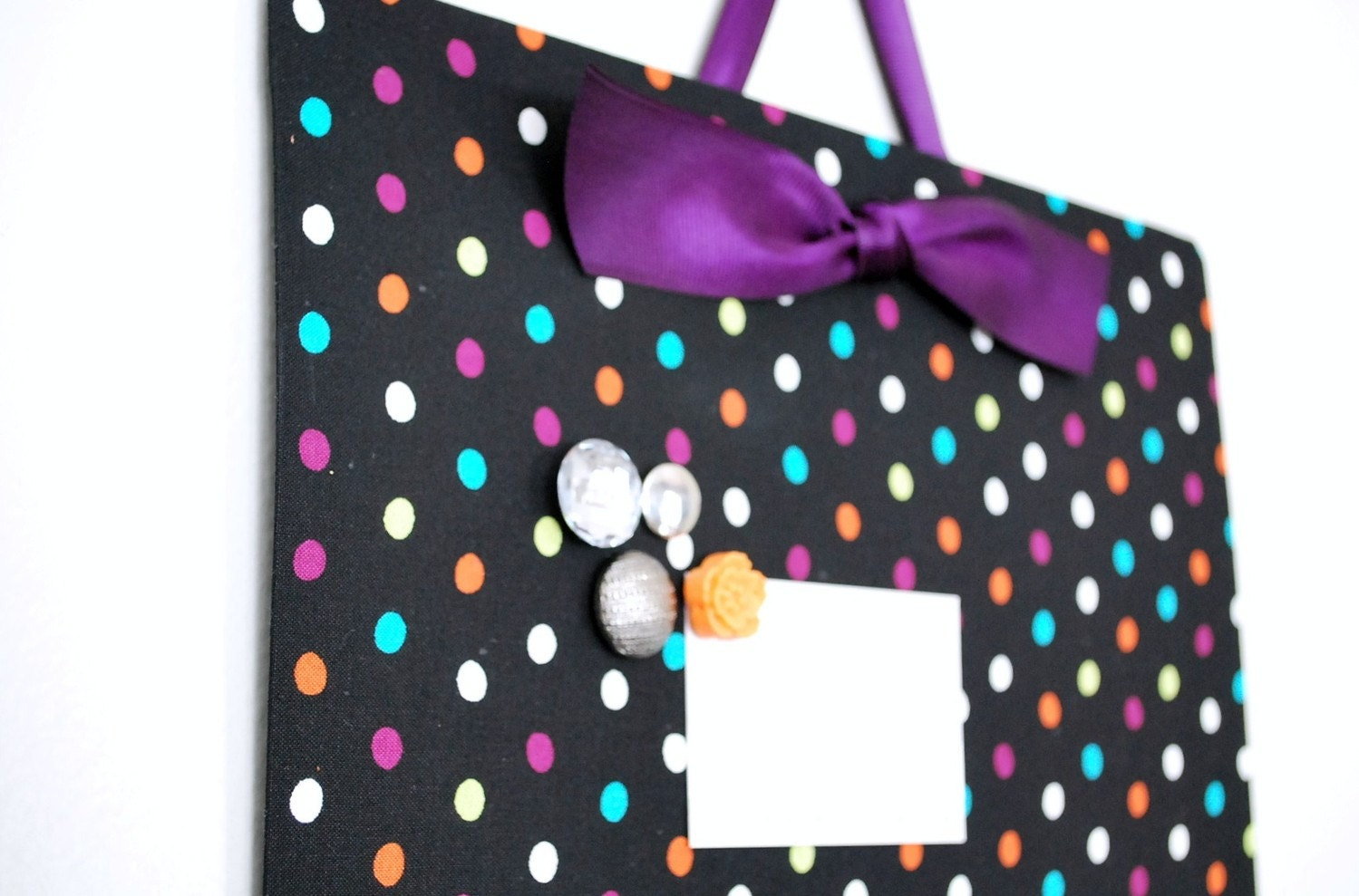 "Fabric Magnet Board (12""x18"") -Polka Dot"