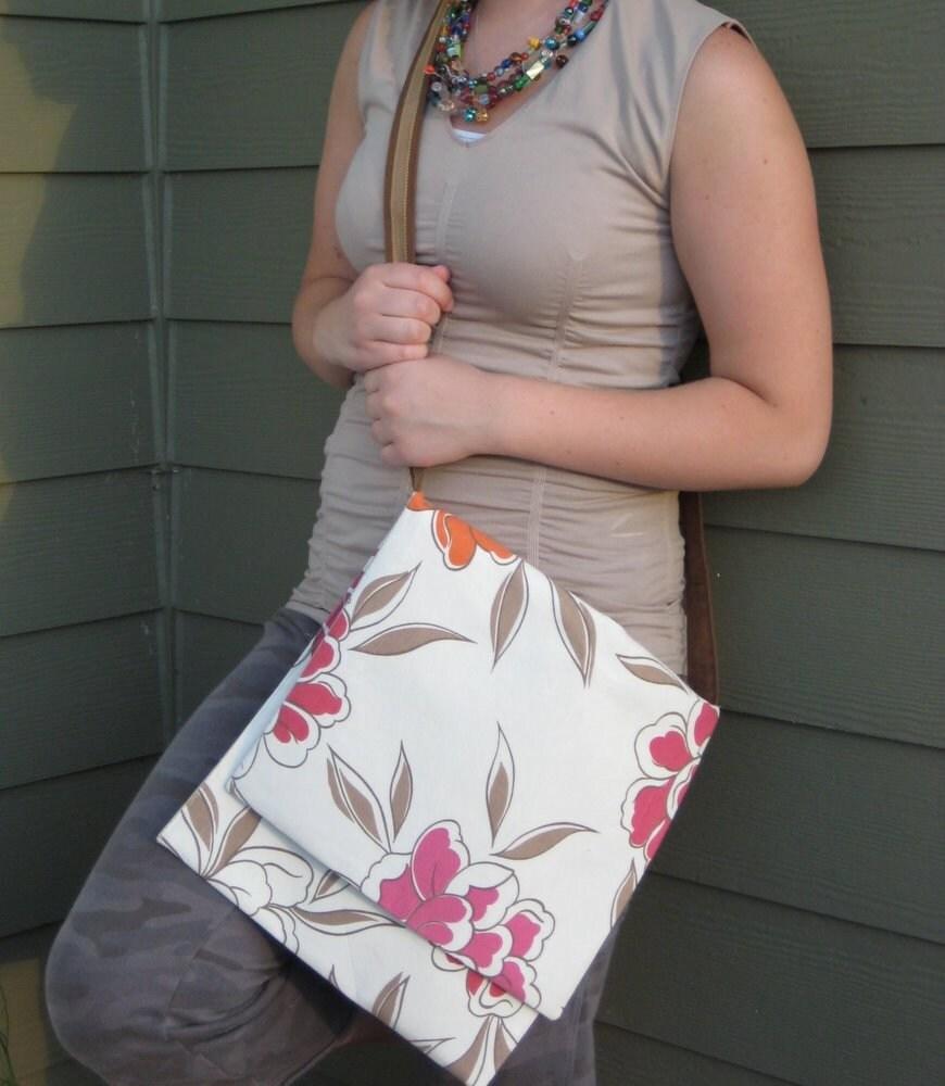 Large Blooms Messenger Bag