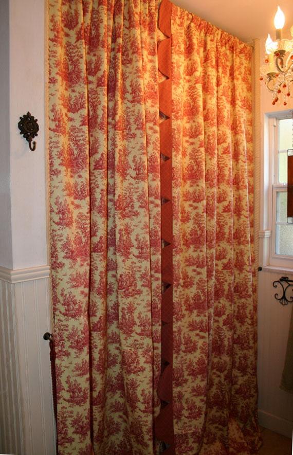 Ruffled Trim Window Panels Custom Made Starting By Maribelclaribel