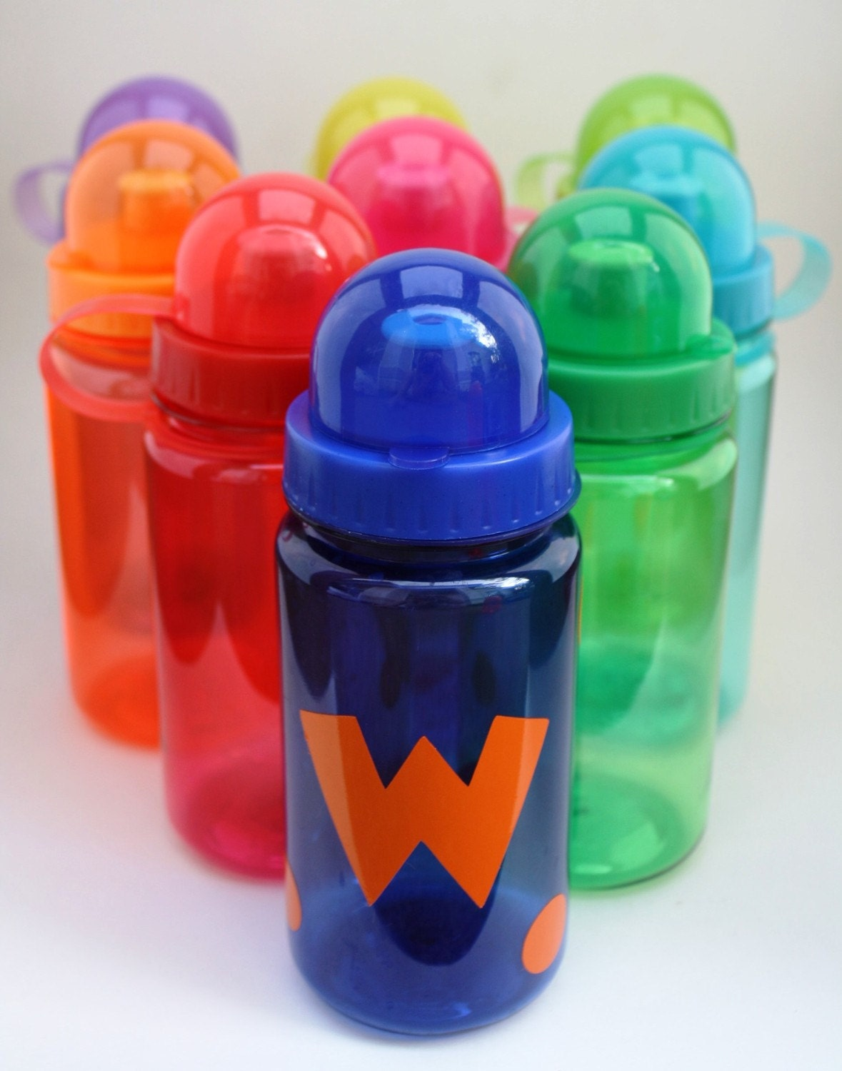 Personalized Child's Water Bottles - with polka dots