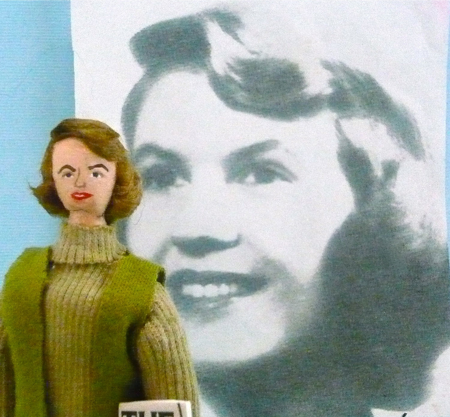 Sylvia Plath Doll Miniature Poet and Author Art Collectible For Readers and Writers