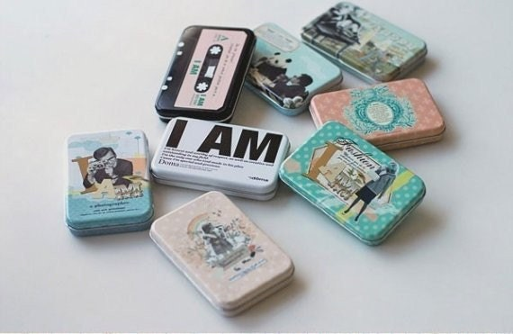 Name Card Tin Case - white