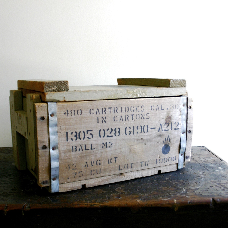 wood ammunition box