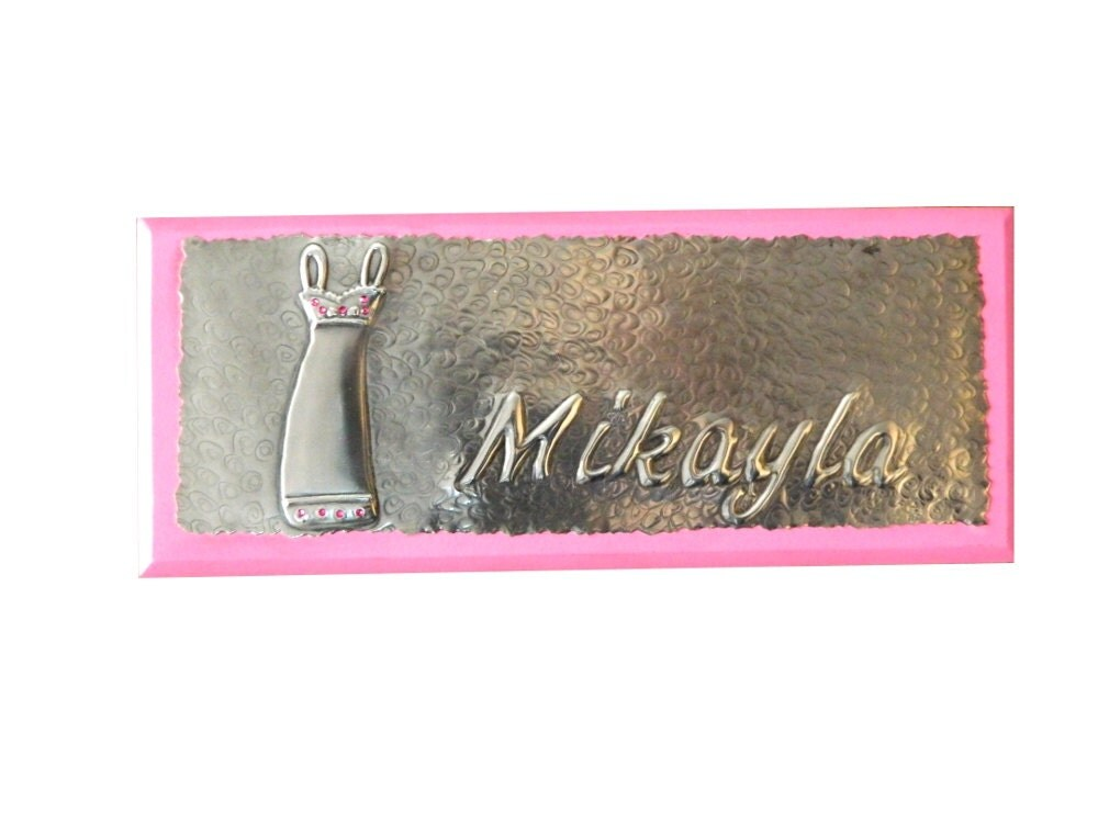 Bedroom Door Sign Pewter Dress Personalised Door Plaque By Loutul Craftjuice Handmade Social