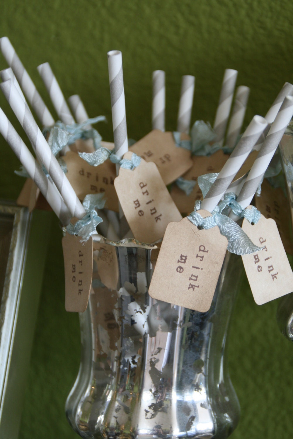 CARNIVAL STRAWS - Drink Me - Wedding, Party, Shower - Set of 24