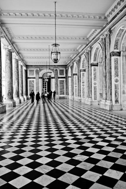 Paris photography - As Seen in Harpers Bazaar Walking in Black and White - French Architecture ,Versailles, France, Paris Photography - rebeccaplotnick