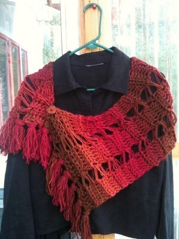 Crochet Scarf Pattern With Fringe : On the Fringe Alaska Style Scarf Crochet Pattern by Stolenhook