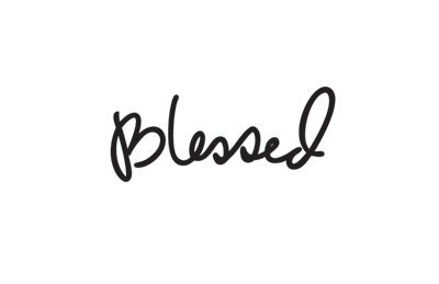 Blessed Script Temporary Tattoo  Hand Lettering By Happytatts. Customize Your Own Banner. Princeton Logo. Customs Signs. Sticker Sticker. Rural Murals. Hebrew Banners. Sharp Bend Signs Of Stroke. Modern Lettering