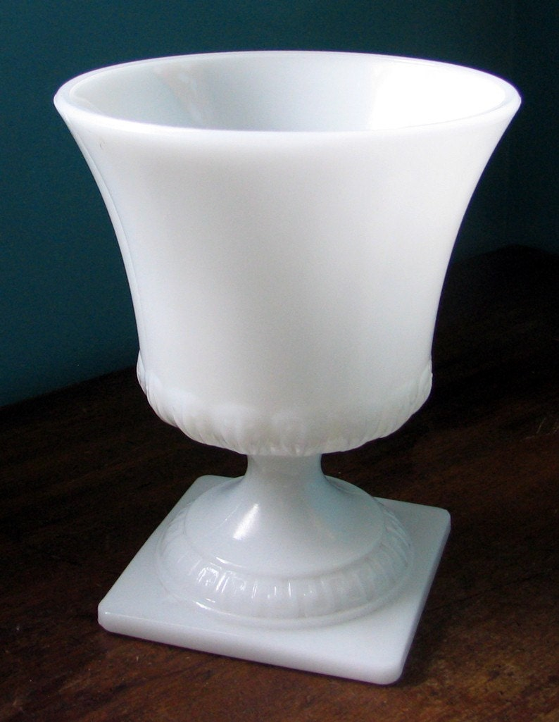 Items Similar To Vintage Milk Glass Goblet Eo Brody On Etsy