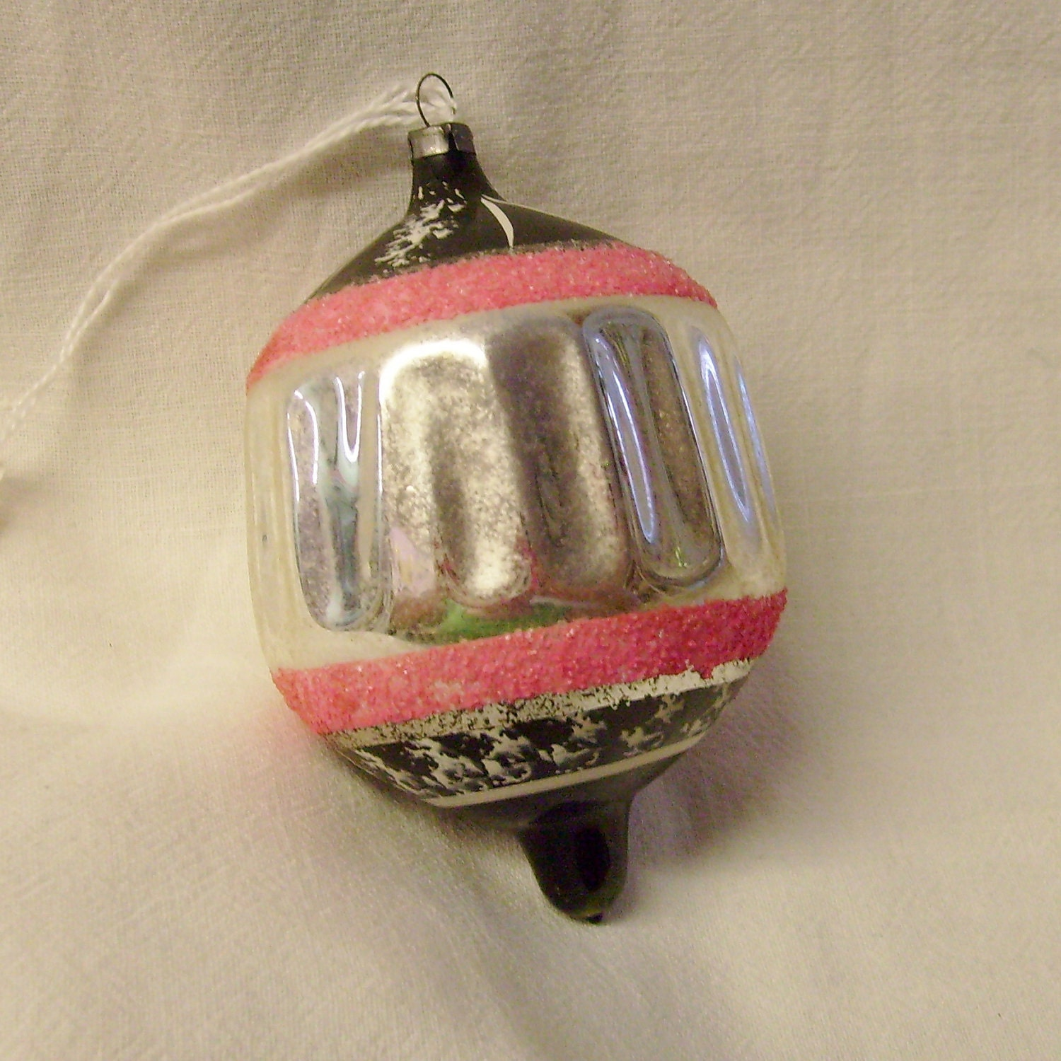Vintage Christmas hand blown glass ornament by thevintageelf