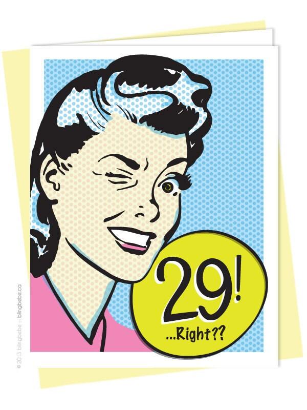 Мне 29 лет открытка