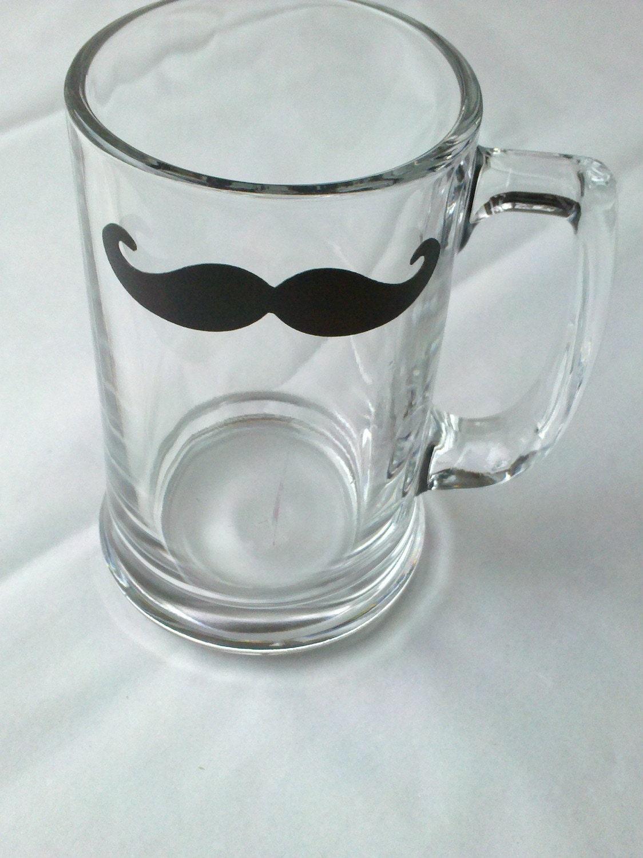 Chalkboard Mustache beer mug