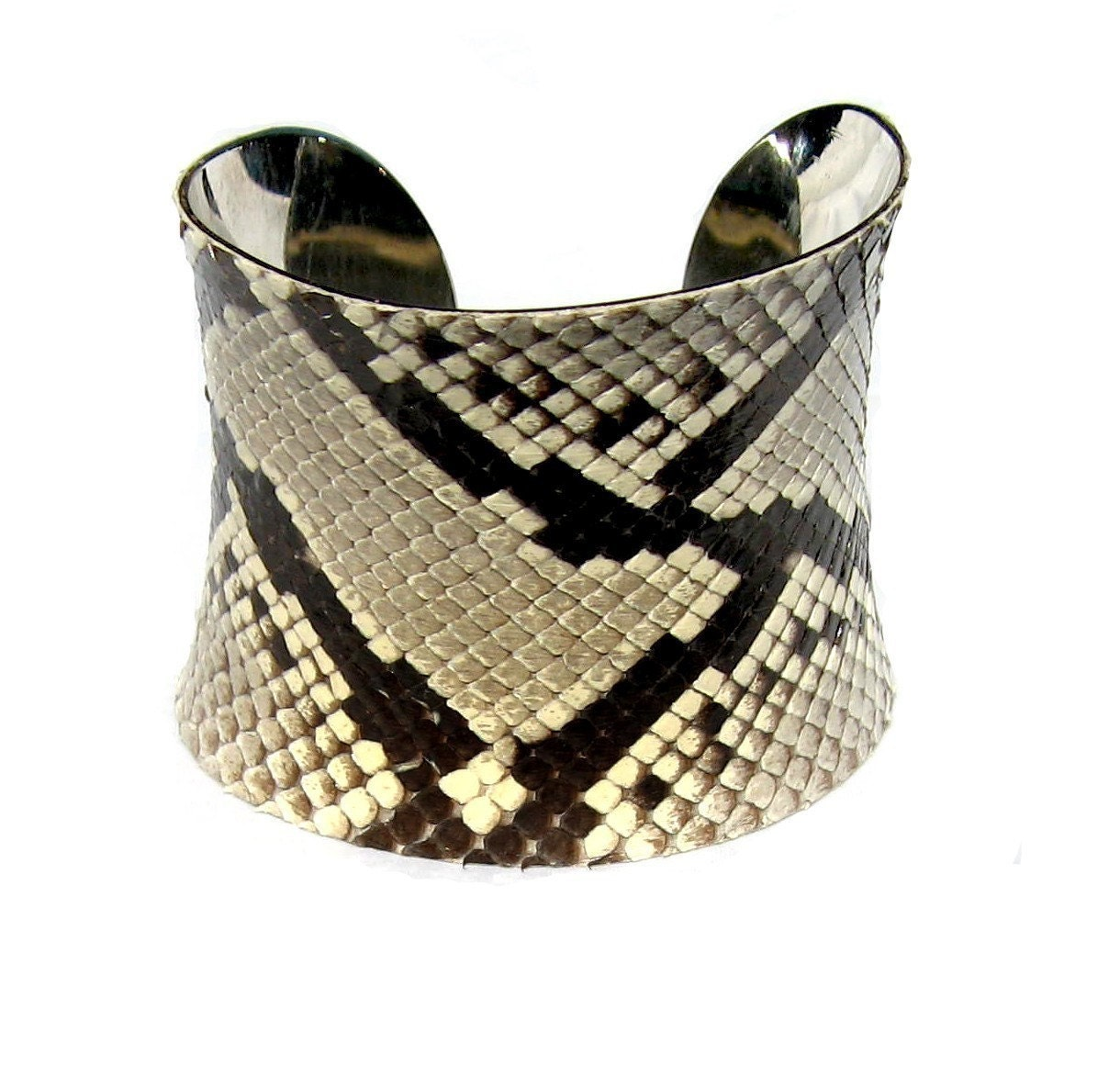 Genuine Snakeskin Cuff Bracelet - by UNEARTHED