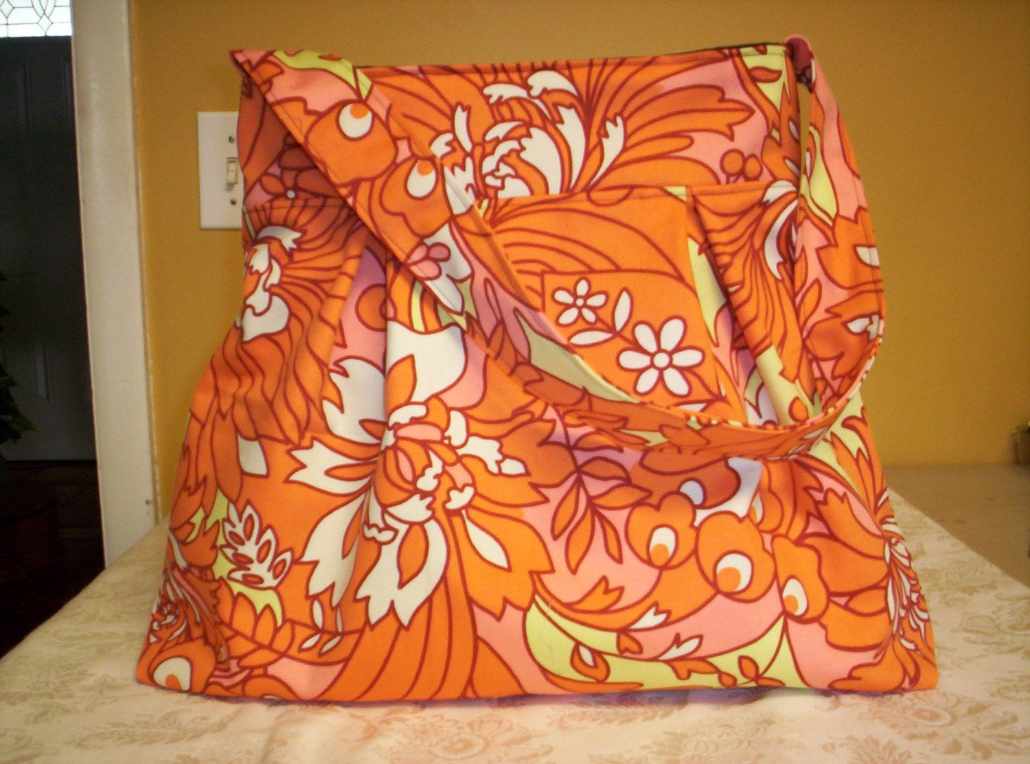 Large Hobo Slouch Bag in Amy Butler Fabric
