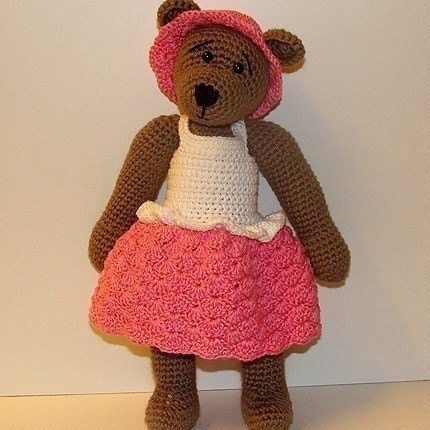 PDF Crochet Pattern - 10 inch Bear and Polar Bear Outfits nr 4