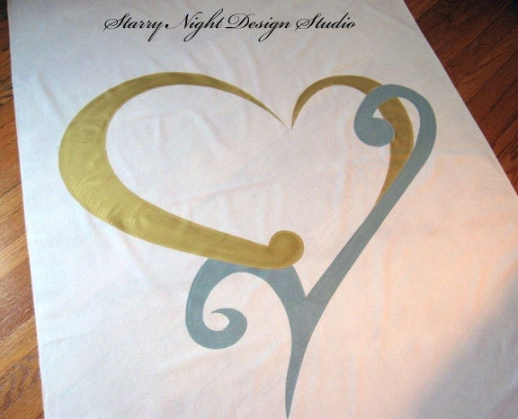 Monogram Wedding Aisle Runner in Real Fabric that Won 39t Rip or Tear