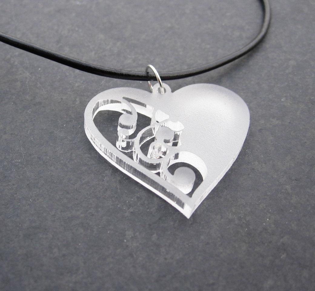 Acrylic Heart Pendant