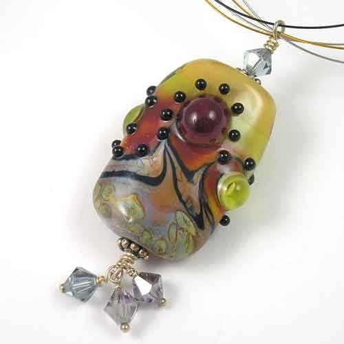 Chaotic Pendant - Angelfire Art Glass by Sue Harmon-King