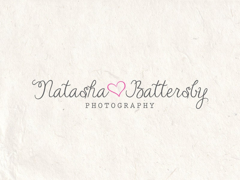 premade photography logo design photography logo watermark heart logo camera logo  instant
