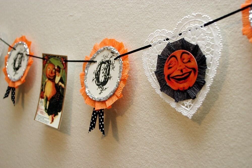Spooky Halloween Garland Vintage Inspired