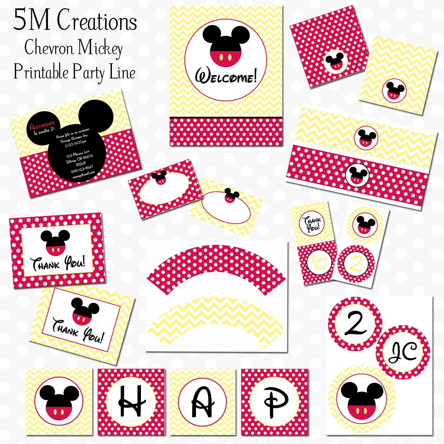 free printable mickey mouse water bottle label party invitations ideas. Black Bedroom Furniture Sets. Home Design Ideas