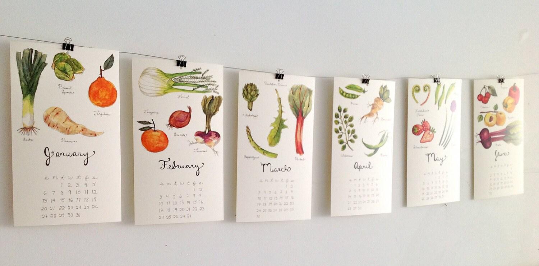 2014 Produce Calendars - thelittlecanoe