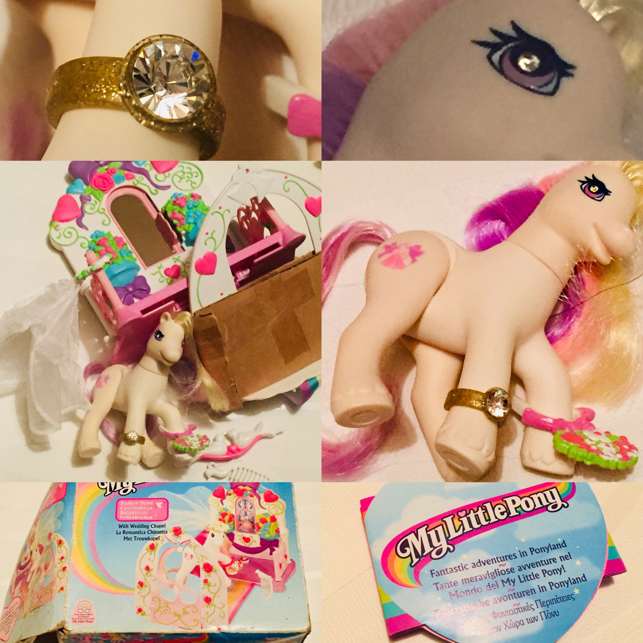 G2 My Little Pony Dainty Dove And Wedding Chapel, 1980s, Vintage MLP, Hasbro, New Old Stock