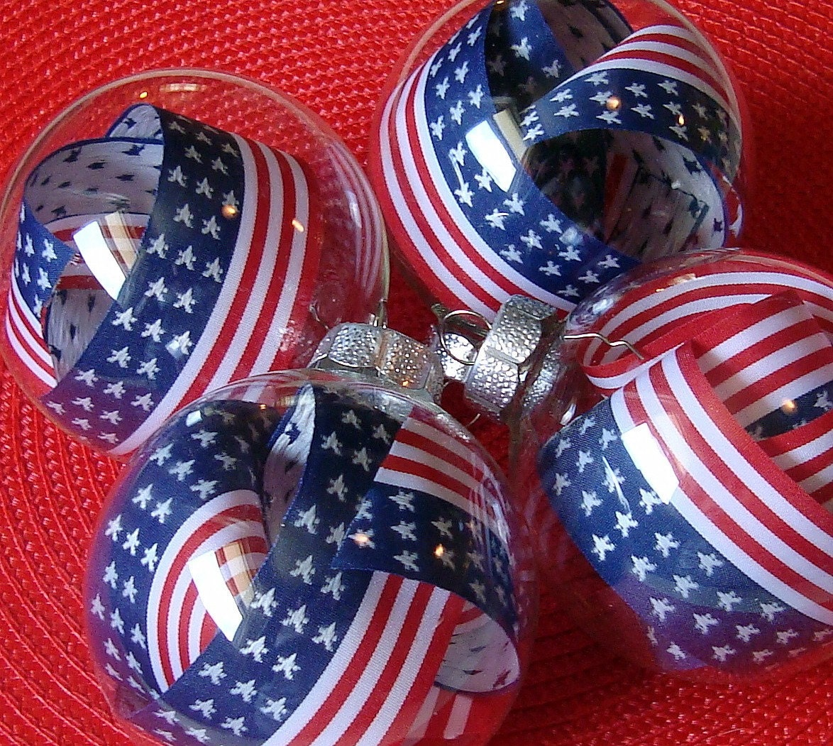 American Flag Ornaments