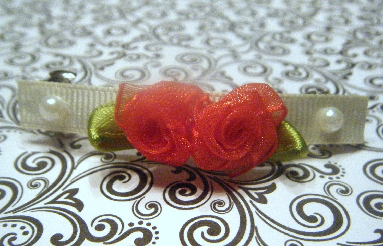 Rose French Barrette