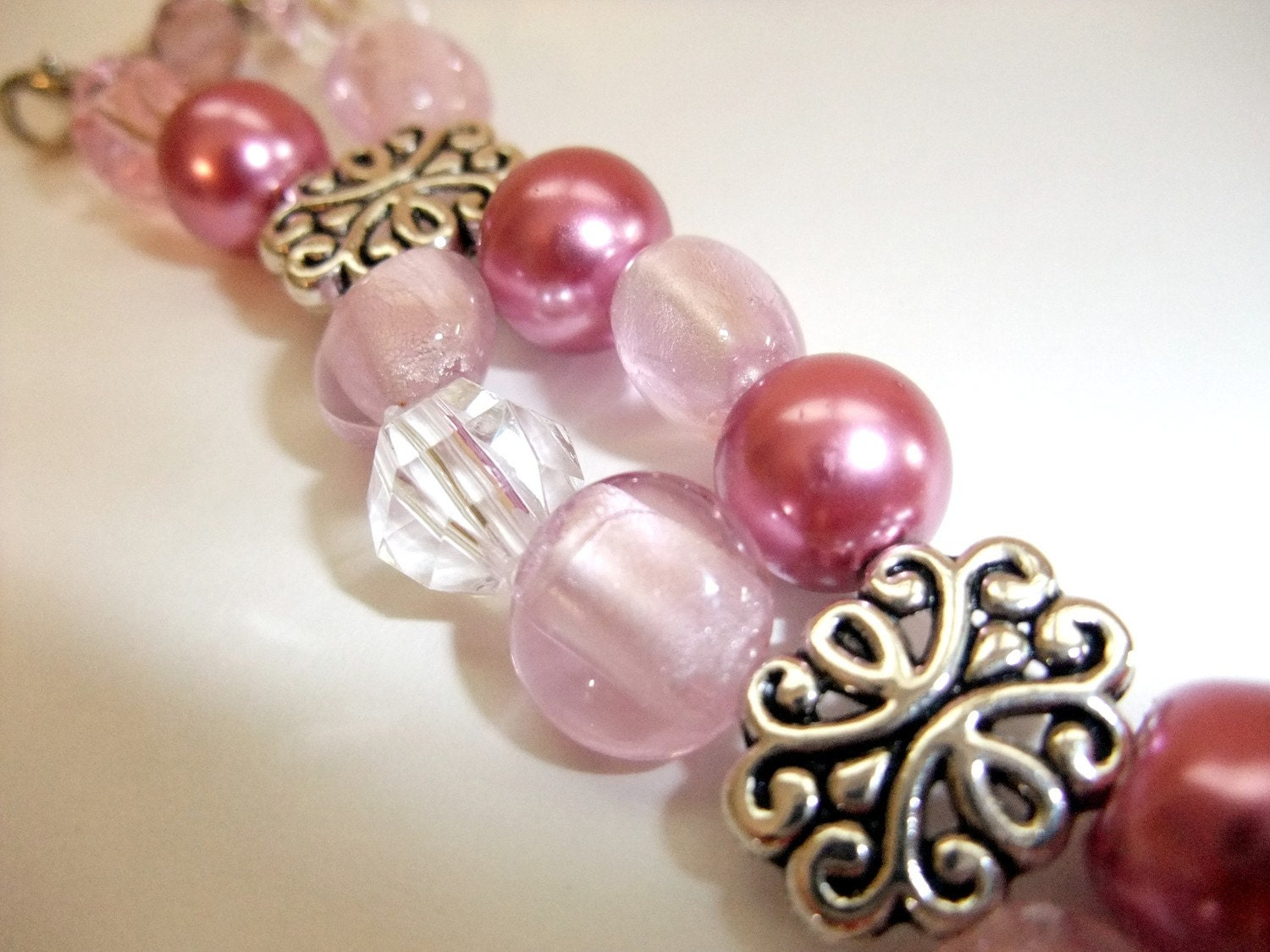 Pretty Pink Pearls Watch Band