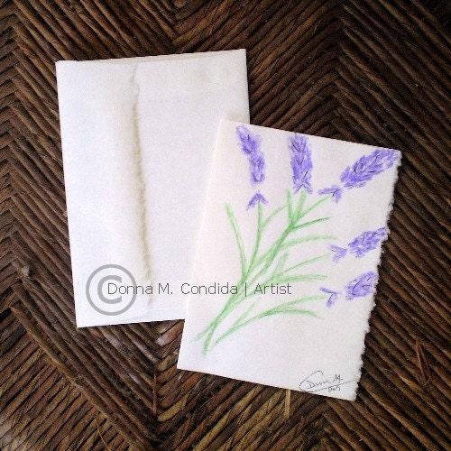 Lavender Dance Original Art Folded by sapphirebleuboutique original