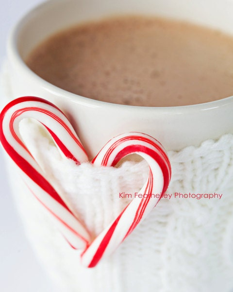 Peppermint Hot Chocolate - 8x10 Fine Art Photography . christmas . candy cane photo . fpoe . holiday . winter - kimfearheiley