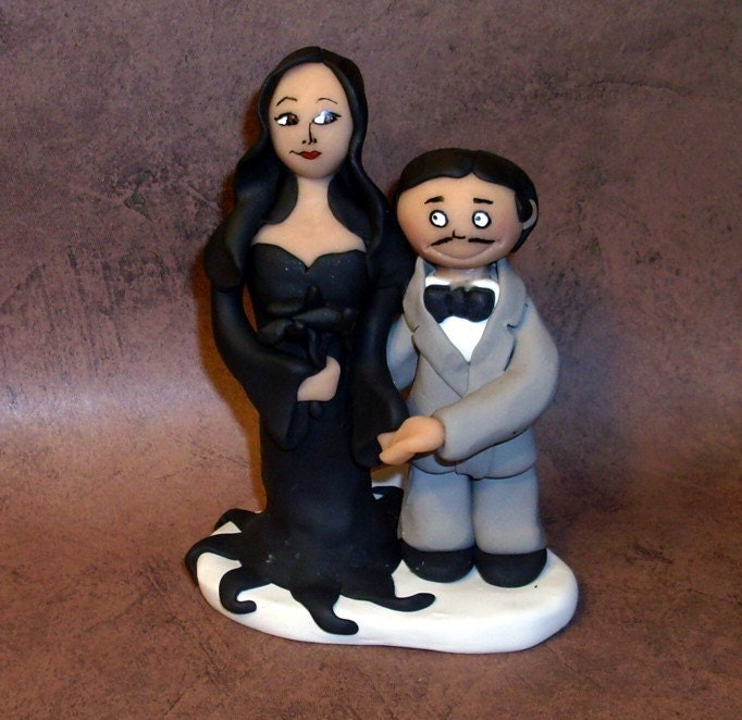 Morticia And Gomez Cake Topper