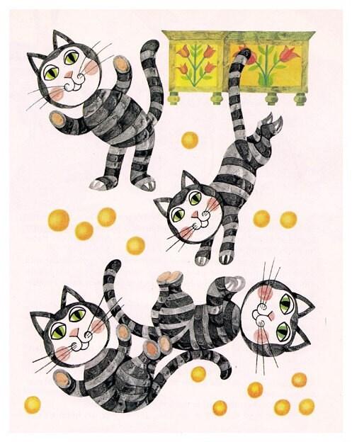 PRINT / Happy cats / 5x7