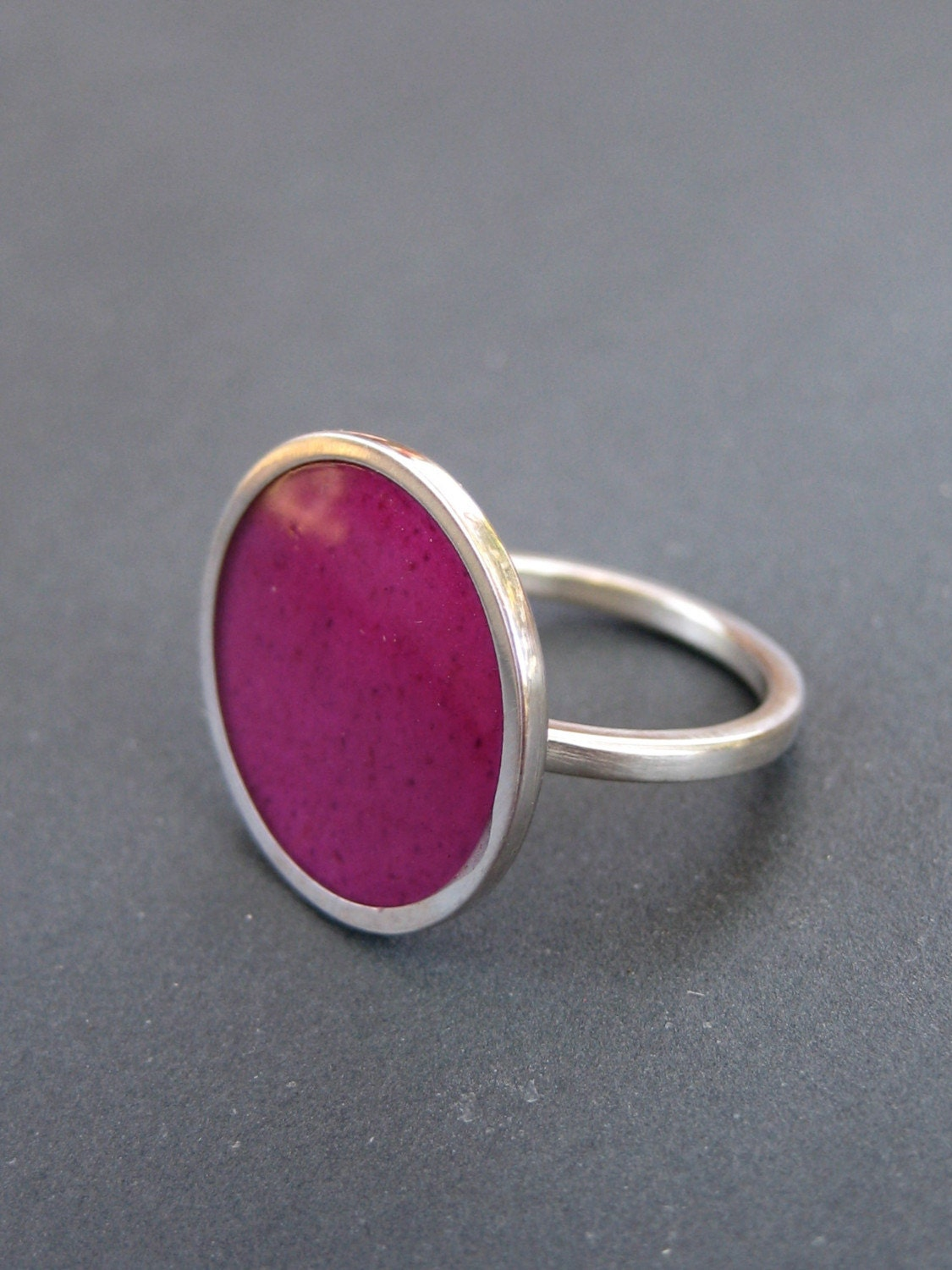 Magenta Piatto Ring--Made to Order in Your Size