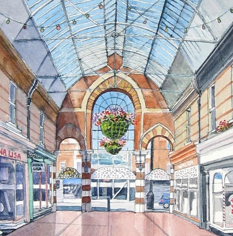Fine Art Giclee Print - Westbourne Arcade