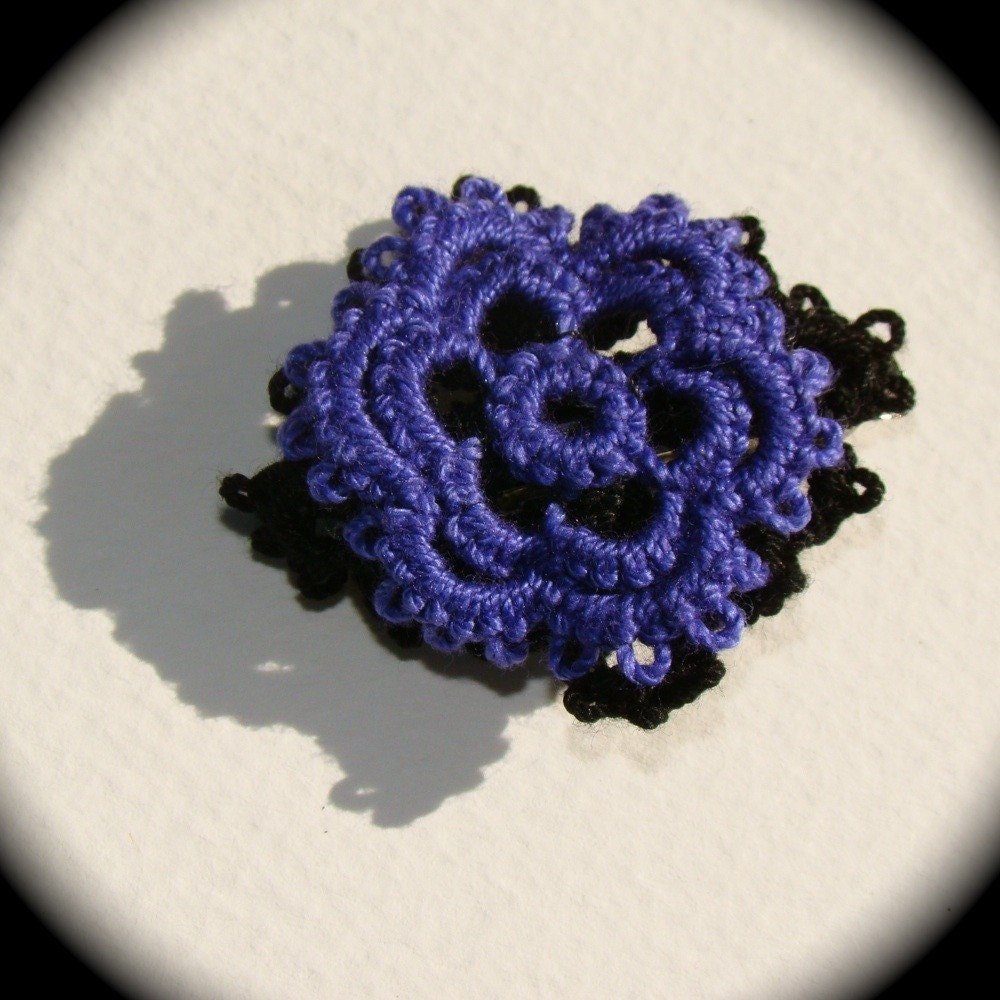 Filigree Tatted Hair Clip