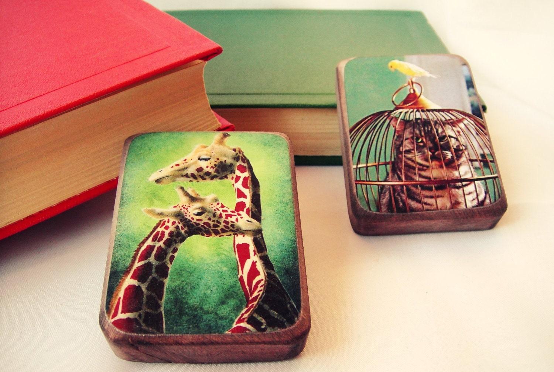 Животное магнит-Комплект из 2 - подарок для любителя животных, бесплатная доставка по всему миру