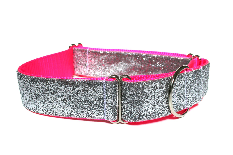"Hot Pink Dog Collar 1.5"" Neon Pink Dog Collar - Wagologie"