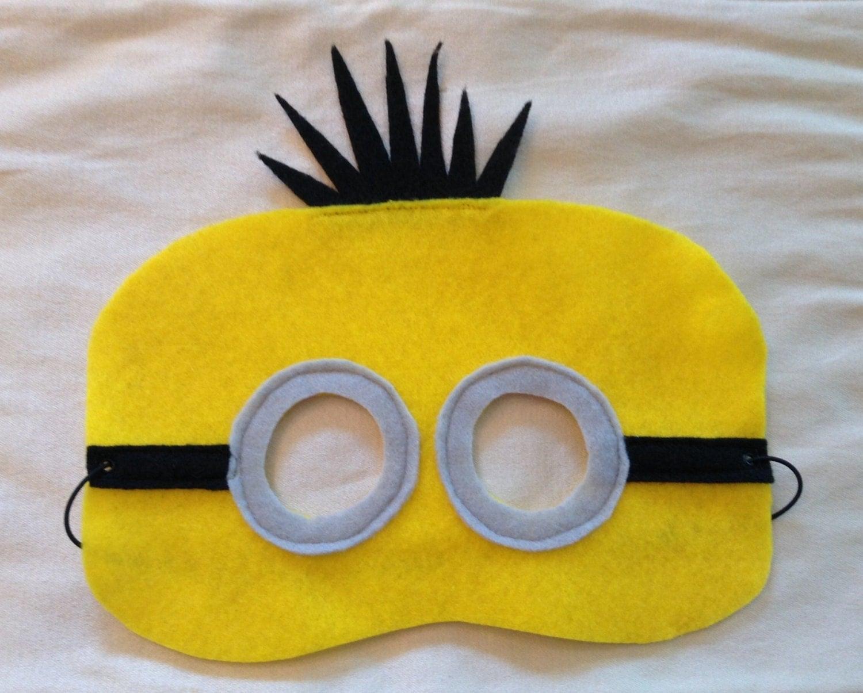 Как сделать маску миньонов