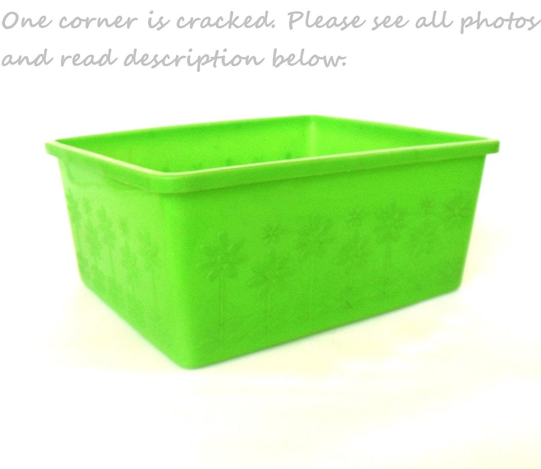 Lime Green Kitchen Decor: Plastic Dishpan Wash Tub Lime Green Orange By LaurasLastDitch